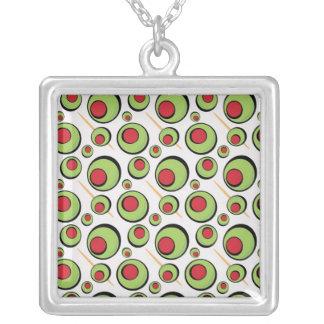 green olives pattern pendants