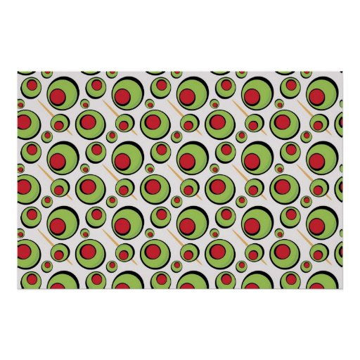 green olives pattern poster