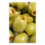 Green olives personalized stationery