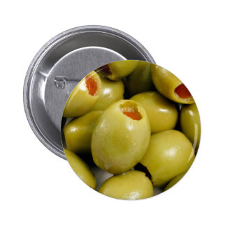 Green olives pinback button