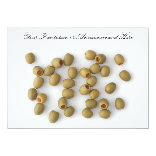 Green Olives with Pimento 5x7 Paper Invitation Card