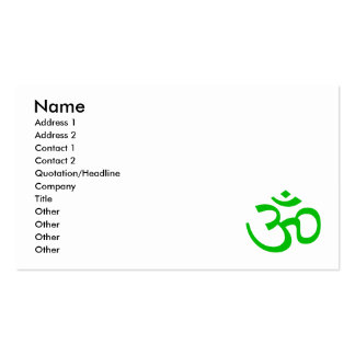 Green Om or Aum ॐ.png Business Cards