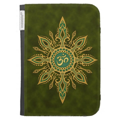 Green Om Star Kindle 3 Cover
