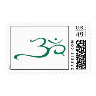 Green om symbol postage