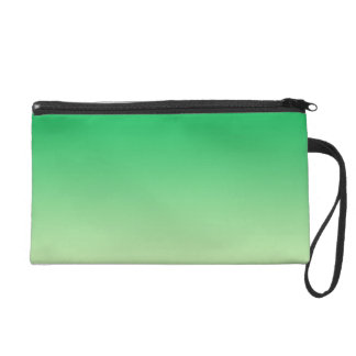 Green Ombre Wristlet Clutches