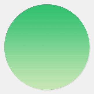 Green Ombre Classic Round Sticker