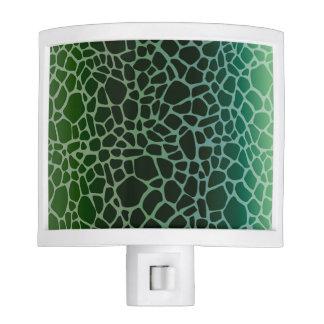 Green Ombre Giraffe Print Nite Light