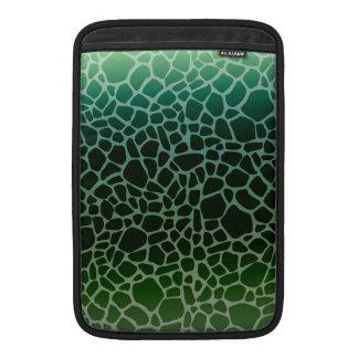 Green Ombre Giraffe Print Sleeve For MacBook Air
