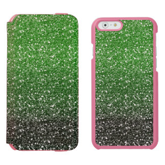Green Ombre Glitter Effect iPhone 6/6s Wallet Case