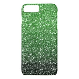 Green Ombre Glitter Effect iPhone 7 Plus Case