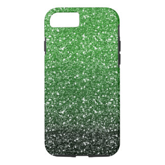 Green Ombre Glitter Effect iPhone 8/7 Case