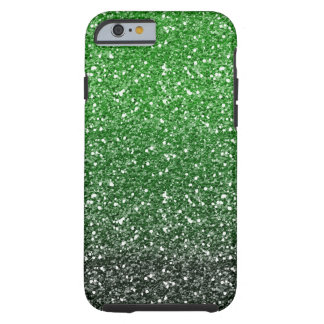 Green Ombre Glitter Effect Tough iPhone 6 Case