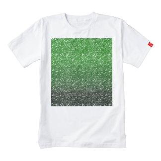 Green Ombre Glitter Effect Zazzle HEART T-Shirt