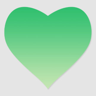 Green Ombre Heart Sticker