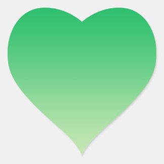 Green Ombre Heart Sticker
