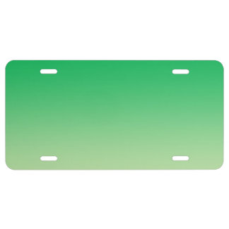 """""""Green Ombre"""" License Plate"""