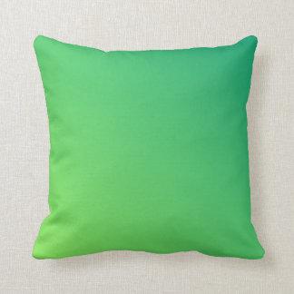 Green Ombre Throw Pillows