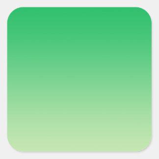 Green Ombre Square Sticker