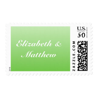 Green Ombre Wedding Postage