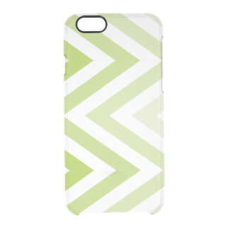 Green Ombre Zigzags Uncommon Clearly™ Deflector iPhone 6 Case