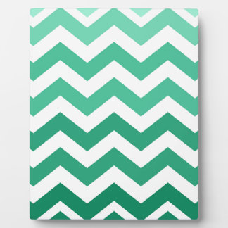Green Ombre Zigzags Plaque