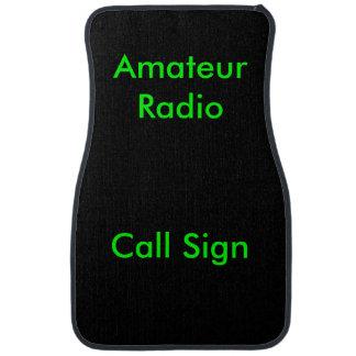 Green on Black Amateur Radio Call Sign Floor Mat