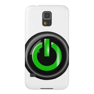 """"""" Green On """" Black Power Button Galaxy S5 Cover"""