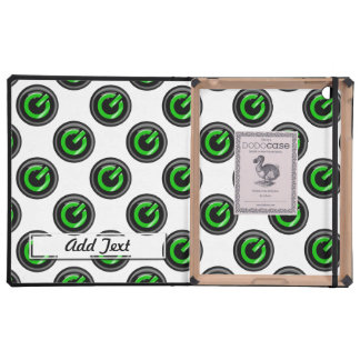 """"""" Green On """" Black Power Button Case For iPad"""