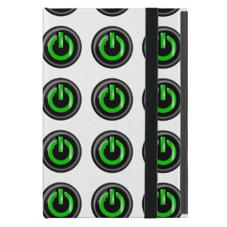 """"""" Green On """" Black Power Button Cases For iPad Mini"""
