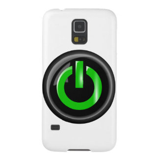 """ Green On "" Black Power Button Galaxy S5 Case"