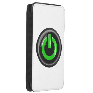 """"""" Green On """" Black Power Button Galaxy S5 Pouch"""
