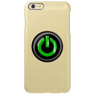 """ Green On "" Black Power Button Incipio Feather® Shine iPhone 6 Plus Case"