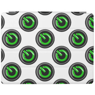 """"""" Green On """" Black Power Button iPad Cover"""