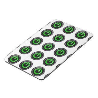 """ Green On "" Black Power Button iPad Mini Cover"