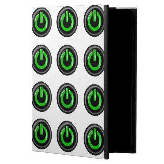 """ Green On "" Black Power Button Powis iPad Air 2 Case"