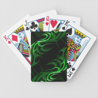 "Green on Black ""Smoke"" Playing Cards"