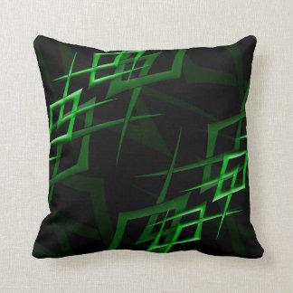 "Green on Black ""Thorn"" Pillow"