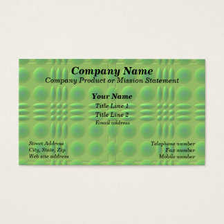 Green on Green Business Cards