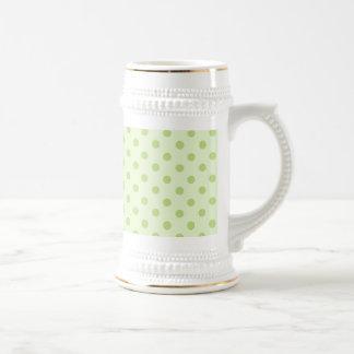 Green on green polka dot mug