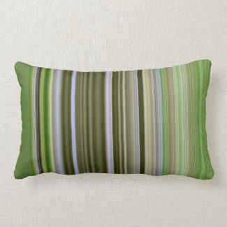 Green on Green Stripe Pillow