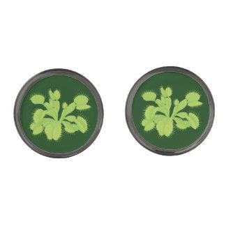 Green on Green Venus Flytrap Flora Cuff Links
