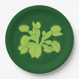 Green on Green Venus Flytrap Paper Plate
