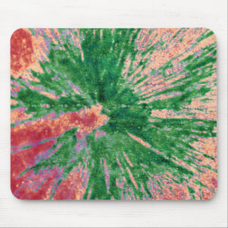 Green on Red and Orange Paintball Mouse Pad