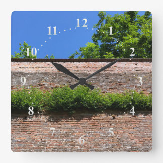 green on the old fortress wall square wall clock