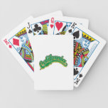 Green on Yellow Playing Cards
