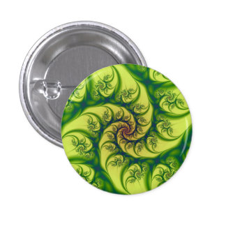 Green on Yellow Spiral Button