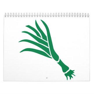 Green onion wall calendars