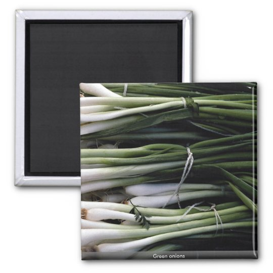 Green onions magnet