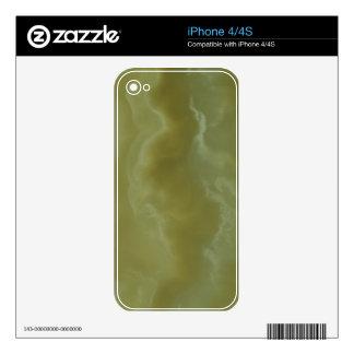 Green Onyx Decorative Stone - Elegant Beauty iPhone 4S Decals