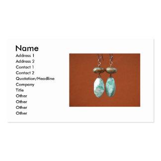 Green Opal Earrins Business Card